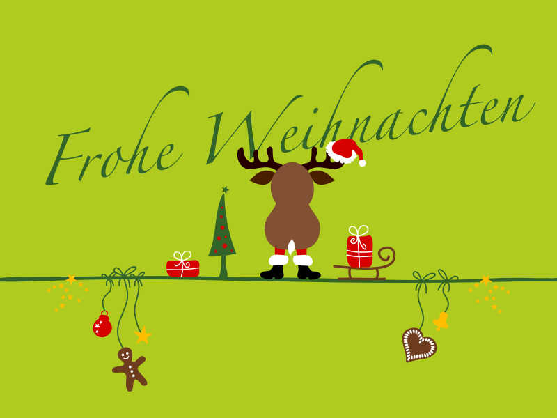 Wir wünschen besinnliche Weihnachtstage
