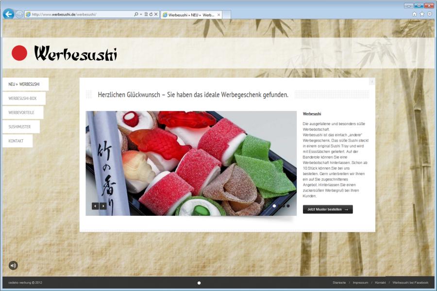 Sushi im Netz