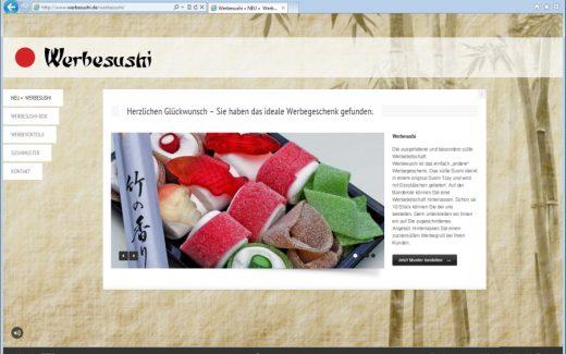 Werbesushi - Das süße Werbegeschenk.